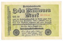 Billet De 10 Millionen Mark   1923 - [ 3] 1918-1933: Weimarrepubliek