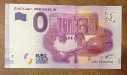 2016 BILLET 0 EURO SOUVENIR BELGIQUE BASTOGNE WAR MUSEUM ZERO 0 EURO SCHEIN BANKNOTE PAPER MONEY - [ 8] Vals En Specimen