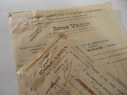 T543 / Facture + Traite Mousselines Et Gaze EMILE VEZIN - 18 Rue Lemercier - PARIS XVII° - 1931 - Factures