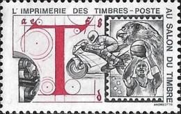 France : Vignette De L'imprim. Des Timbres-poste Au Salon Du Timbre 94 (Basket Ball, Moto, Faucon). Gr. Andreotto YV V28 - Philatelic Fairs