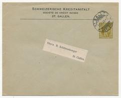 SUISSE - Enveloppe (Entier Postal PRIVÉ) 2c Guillaume Tell - Sociéta De Crédit Suisse St Gallen - 1909 - Postwaardestukken
