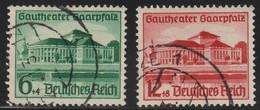 Deutsches Reich - 1938 Michel 673-674   Opening Of The Gautheatre Saar Palatinate - Duitsland