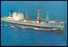 "RUSSIA POSTCARD Mint BALTIC SHIPPING Leningrad SHIP ""Vyborg"" CARGO BATEAU SCHIFF TRANSPORT BSCo K1 USSR - Commercio"
