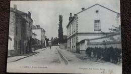 CPA COURS RHONE RUE GRANDE ED CHANGEANT AVANT 1904 - Cours-la-Ville