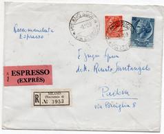 AFFRANCATURA - STORIA POSTALE REPUBBLICA SU BUSTA - 11 - 1946-60: Marcofilia