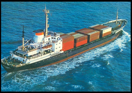 "RUSSIA POSTCARD Mint BALTIC SHIPPING Leningrad SHIP ""Pioner Vyborga"" Scouting CARGO BATEAU SCHIFF TRANSPORT BSCo K1 USSR - Commercio"
