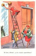 CARTE GRIVOISE PIN-UP SEXY PORTES JARETELLES ET BAS  ILLUSTRATEUR MARQUOT - Other Illustrators