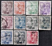 Lot De Franco Sans Signature  N° 677 à 683_684_686_687_689 - 1931-50 Gebraucht