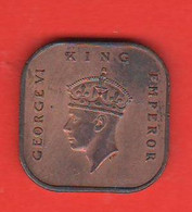1 Centesimo Cent 1943 Malesia Malaya  King George VI° Emperor - Malaysie