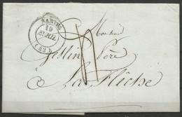 France - Précurseur - LAC Du 19/4/1841 De Nantes(cachet NANTES En Noir) Vers La Flèche - 1801-1848: Precursori XIX
