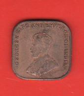 1 Centesimo Cent 1920 Strait & Settlements  Malesia Malaya  King George V° Emperor Of India - Malaysie