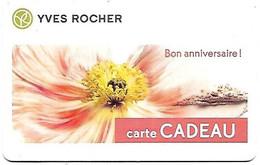 @+ Carte Cadeau - Gift Card : Yves ROCHER - Bon Anniversaire - France - Frankreich