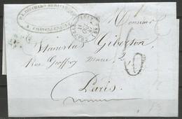 France - Précurseur - LAC Du 11/10/47 De CHATELLERAULT (cachet En Noir) Vers Paris - 1801-1848: Precursori XIX