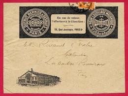"""Lettre à En-tête Commerciale """"DUTRUT, BERNIER & DESRUES"""" Outillage Mécanique, Quai Jemmapes 75010 PARIS Xe - 1921-1960: Modern Period"""