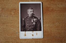Cdv Colonel 47eme De La Territorial Avec Ordres étrangers  Belle Dédicace à Identifier 0 - Guerra, Militari