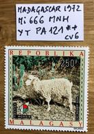 MADAGASCAR 1972 Mi 666 - YT PA 121 MNH NEUF POSTFRISCH ANIMAUX CHEVRE MOHAIR CV 6€ LUXE - Madagascar (1960-...)