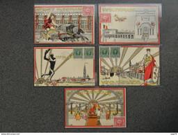 Antwerpen / Anvers, Zeldzame Collectie Van 5 Zeldzame Kaarten Door Illustrateur Verelst, Olympics /Olympiade 1920 (info) - Andere Illustrators
