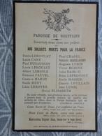 FAIRE PART DECES MILITARIA GUERRE 14/18  ROUFFIGNY MANCHE  LES SOLDATS MORTS AU CHAMP D'HONNEUR - Todesanzeige