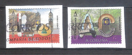 España 2020 - 2 Sellos Usados Y Circulados - Lugo Y A Coruña-Espagne Spain Spanien - 1931-Hoy: 2ª República - ... Juan Carlos I