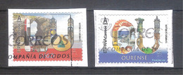 España 2020 - 2 Sellos Usados Y Circulados - Lugo Y Ourense-Espagne Spain Spanien - 1931-Hoy: 2ª República - ... Juan Carlos I