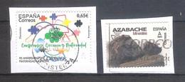 España 2020 - 2 Sellos Usados Y Circulados -90 Aniversario Muprespa Y Mineral Azabache-Espagne Spain Spanien - 1931-Hoy: 2ª República - ... Juan Carlos I