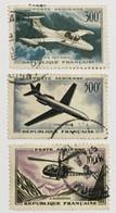 YT 35 A 37 (°) Obl Poste Aérienne 1957-59 Morane-Saulnier Caravelle Alouette (côte 36 Euros) – Kr1lot - 1927-1959 Gebraucht