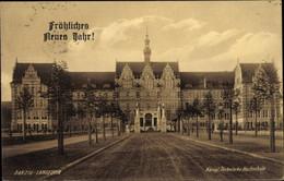 CPA Gdańsk Danzig Langefuhr, Königl. Technische Hochschule, Glückwunsch Neujahr - Danzig