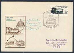 DDR Germany 1990 Brief Cover - 100 Jahre Schmalspurbahn Zittau-Oybin-Jonsdorf - Traditionszug / Narrow-gauge Railway - Trains