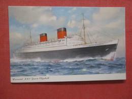 Cunard RML  Queen Elizabeth >   Ref 4412 - Unclassified