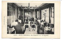 PARIS - Hôtel Montréal - Rue D'Hauteville - Le Restaurant - District 10