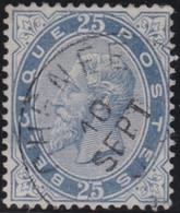 Belgie       .    OBP     .     39      .     O      .  Gebruikt     .   /   .  Oblitéré - 1883 Leopoldo II