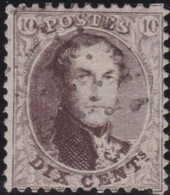 Belgie       .    OBP     .   14  .  Perf. 12½    .     O      .  Gebruikt     .   /   .  Oblitéré - 1863-1864 Medallions (13/16)