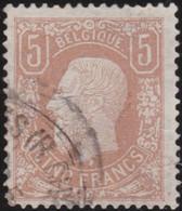 Belgie       .    OBP     .     37A  (2 Scans)   .     O      .  Gebruikt     .   /   .  Oblitéré - 1869-1883 Leopold II