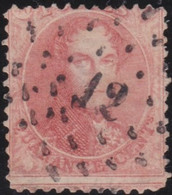 Belgie       .    OBP     .   16   .     O      .  Gebruikt     .   /   .  Oblitéré - 1863-1864 Medallions (13/16)