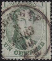 Belgie       .    OBP     .   13A    .     O      .  Gebruikt     .   /   .  Oblitéré - 1863-1864 Medallions (13/16)