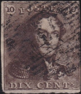 Belgie       .    OBP     .   1  (2 Scans)      .     O      .  Gebruikt     .   /   .  Oblitéré - 1849 Epaulettes