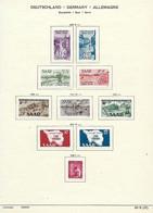 DEUTSCHLAND / GERMANY / ALLEMAGNE  -  SAARLAND / SAAR / SARRE TIMBRES - Briefmarken 1948 / 49 - Franse Zone