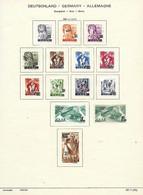 DEUTSCHLAND / GERMANY / ALLEMAGNE  -  SAARLAND / SAAR / SARRE TIMBRES - Briefmarken 1947 - Franse Zone