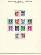 DEUTSCHLAND / GERMANY / ALLEMAGNE  -  SAARLAND / SAAR / SARRE TIMBRES - Briefmarken 1949 - Franse Zone