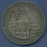 Frankfurt Stadt Gedenktaler 1863 Fürstentag, J 52 Vz, Kl. Randfehler (m2744) - Taler Et Doppeltaler