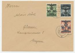Generalgouvernement Michel No. 21 , 22 , 34 Auf Brief - Occupation 1938-45