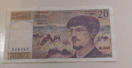 20 Francs 1993 Debussy - 1962-1997 ''Francs''