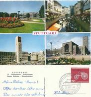 """AK  """"Stuttgart - 4 Bilder""""  (Sonderstempel Robert Bosch)           1961 - Covers & Documents"""