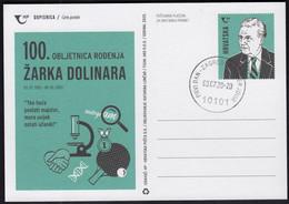 Croatia 2020 / Table Tennis, Science / Zarko Dolinar 100th Birth Anniversary / Scientist, Biologist / Premier Jour - Tenis De Mesa