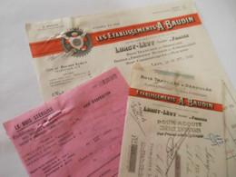 T558 / Facture + Traite + Avis D'expéd. ETS A. BAUDIN - LURCY-LEVY Allier 1931 - Boites à Fromages Scieries Emballages - Factures