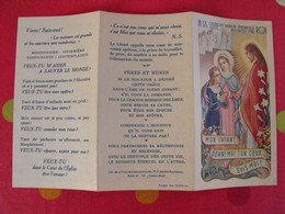 """Dépliant Prosélyte Pour Le Recrutement Des Soeurs. Assomption. """"épouse Du Christ"""" Vers 1900 - Devotion Images"""