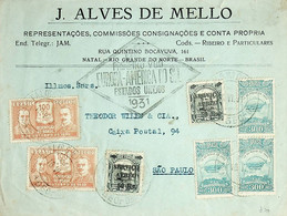 1931 Brasil / Brazil DOX 1.º Voo / First Flight Europa América Do Sul Estados Unidos - Airmail