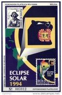Bolivia 1994 CEFIBOL 1534 ** HB Eclipse Solar. Alegoría Del Eclipse. Mapa, Pantera, - Bolivien
