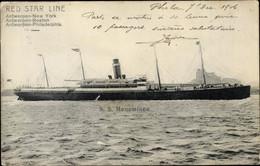 CPA Steamer SS Menominee, Dampfschiff, Red Star Line - Sin Clasificación