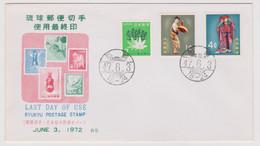 Ryukyu Islands 1972 The Last Day Of Sale Of Ryukyu Stamps ,FDC 4 - FDC